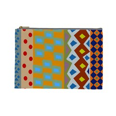 Abstract A Colorful Modern Illustration Cosmetic Bag (large)