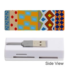 Abstract A Colorful Modern Illustration Memory Card Reader (stick)