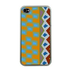 Abstract A Colorful Modern Illustration Apple iPhone 4 Case (Clear)