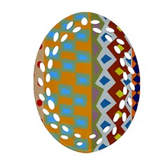 Abstract A Colorful Modern Illustration Ornament (Oval Filigree)