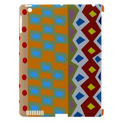 Abstract A Colorful Modern Illustration Apple iPad 3/4 Hardshell Case (Compatible with Smart Cover)