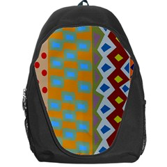 Abstract A Colorful Modern Illustration Backpack Bag