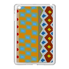 Abstract A Colorful Modern Illustration Apple iPad Mini Case (White)