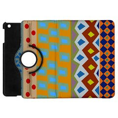 Abstract A Colorful Modern Illustration Apple iPad Mini Flip 360 Case