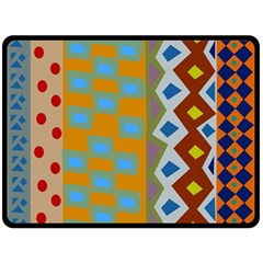 Abstract A Colorful Modern Illustration Double Sided Fleece Blanket (Large)