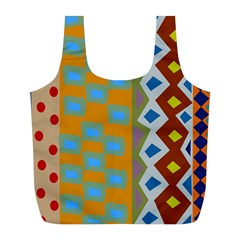 Abstract A Colorful Modern Illustration Full Print Recycle Bags (L)