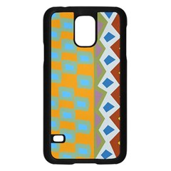 Abstract A Colorful Modern Illustration Samsung Galaxy S5 Case (Black)