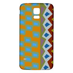 Abstract A Colorful Modern Illustration Samsung Galaxy S5 Back Case (White)