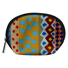Abstract A Colorful Modern Illustration Accessory Pouches (Medium)