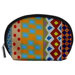 Abstract A Colorful Modern Illustration Accessory Pouches (Large)
