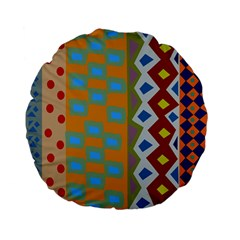 Abstract A Colorful Modern Illustration Standard 15  Premium Flano Round Cushions