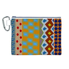 Abstract A Colorful Modern Illustration Canvas Cosmetic Bag (L)