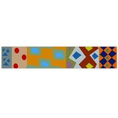 Abstract A Colorful Modern Illustration Flano Scarf (Large)