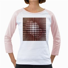 Technical Background With Circles And A Burst Of Color Girly Raglans