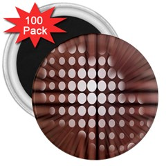 Technical Background With Circles And A Burst Of Color 3  Magnets (100 Pack)