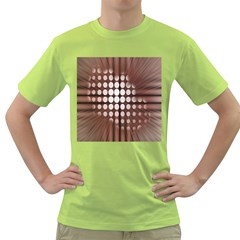 Technical Background With Circles And A Burst Of Color Green T-Shirt
