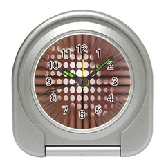 Technical Background With Circles And A Burst Of Color Travel Alarm Clocks