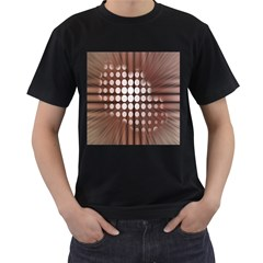 Technical Background With Circles And A Burst Of Color Men s T Shirt (black) (two Sided)