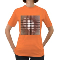 Technical Background With Circles And A Burst Of Color Women s Dark T Shirt