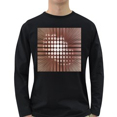 Technical Background With Circles And A Burst Of Color Long Sleeve Dark T Shirts