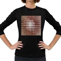 Technical Background With Circles And A Burst Of Color Women s Long Sleeve Dark T-Shirts