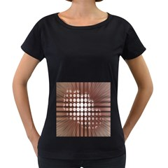 Technical Background With Circles And A Burst Of Color Women s Loose-Fit T-Shirt (Black)