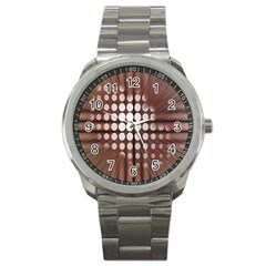 Technical Background With Circles And A Burst Of Color Sport Metal Watch