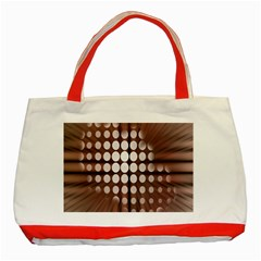 Technical Background With Circles And A Burst Of Color Classic Tote Bag (Red)
