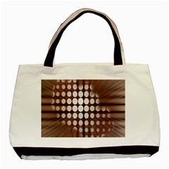 Technical Background With Circles And A Burst Of Color Basic Tote Bag (two Sides)