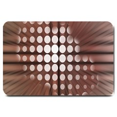 Technical Background With Circles And A Burst Of Color Large Doormat