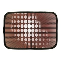 Technical Background With Circles And A Burst Of Color Netbook Case (Medium)