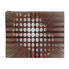 Technical Background With Circles And A Burst Of Color Cosmetic Bag (xl)