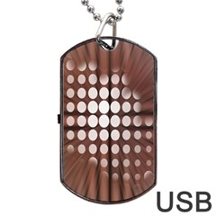 Technical Background With Circles And A Burst Of Color Dog Tag USB Flash (One Side)