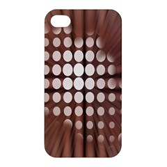 Technical Background With Circles And A Burst Of Color Apple iPhone 4/4S Premium Hardshell Case