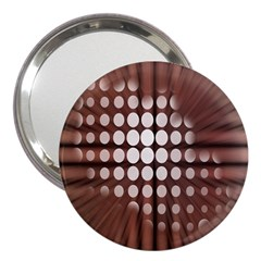 Technical Background With Circles And A Burst Of Color 3  Handbag Mirrors