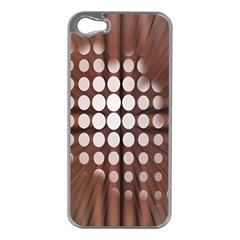 Technical Background With Circles And A Burst Of Color Apple iPhone 5 Case (Silver)