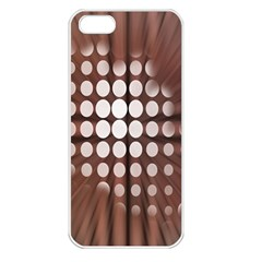 Technical Background With Circles And A Burst Of Color Apple iPhone 5 Seamless Case (White)