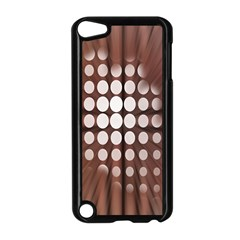 Technical Background With Circles And A Burst Of Color Apple iPod Touch 5 Case (Black)