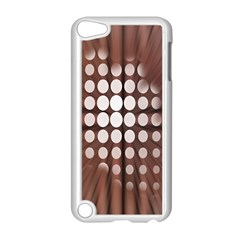 Technical Background With Circles And A Burst Of Color Apple iPod Touch 5 Case (White)