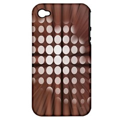 Technical Background With Circles And A Burst Of Color Apple iPhone 4/4S Hardshell Case (PC+Silicone)