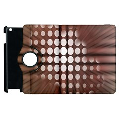 Technical Background With Circles And A Burst Of Color Apple iPad 3/4 Flip 360 Case