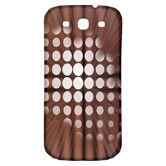 Technical Background With Circles And A Burst Of Color Samsung Galaxy S3 S III Classic Hardshell Back Case