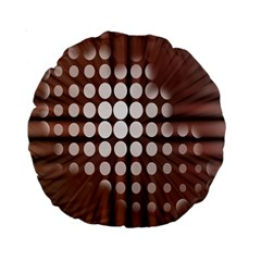 Technical Background With Circles And A Burst Of Color Standard 15  Premium Round Cushions