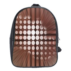 Technical Background With Circles And A Burst Of Color School Bags (xl)