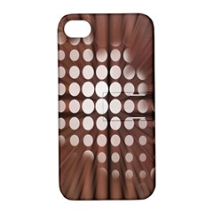 Technical Background With Circles And A Burst Of Color Apple iPhone 4/4S Hardshell Case with Stand