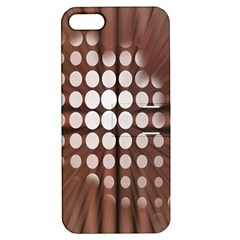 Technical Background With Circles And A Burst Of Color Apple iPhone 5 Hardshell Case with Stand