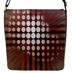 Technical Background With Circles And A Burst Of Color Flap Messenger Bag (S)