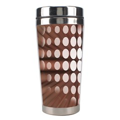 Technical Background With Circles And A Burst Of Color Stainless Steel Travel Tumblers
