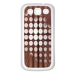 Technical Background With Circles And A Burst Of Color Samsung Galaxy S3 Back Case (White)