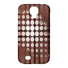 Technical Background With Circles And A Burst Of Color Samsung Galaxy S4 Classic Hardshell Case (PC+Silicone)